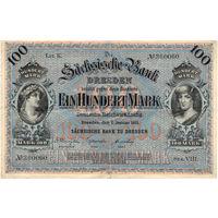 Саксония (Дрезден), 100 марок, 1911 г. Состояние!