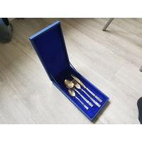 Подарочный набор столовых приборов Республика Коми, в идеальном состоянии, подойдёт как сувенир на праздник.
