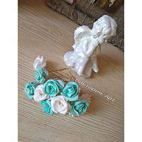 Шпильки для свадебной прически+ бутоньерка