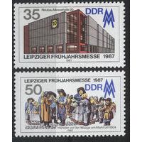 Германия, ГДР 1987 г. Mi#3080-3081** чистая полная серия (MNH)