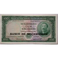 Мозамбик 100 эскудо 1961. Надпечатка 1976. UNC.
