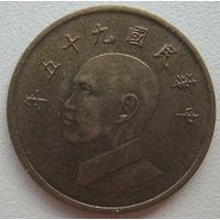 Тайвань 1 доллар 2006 г.