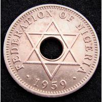 Нигерия. 1/2 пенни 1959 год KM#1 Редкая!!! А - 2