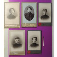 """Фото визит-портрет """"Дамы из Тамбова"""", (знакомые лица), до 1917 г."""