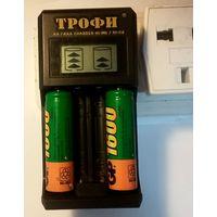 Зарядное устройство Трофи TR-803 LCD скоростное 250mAh (1-2 AA/AAA)