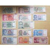 Набор банкнот Югославии. Распродажа