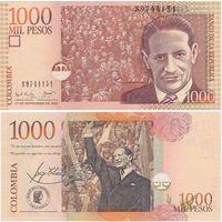 Колумбия 1000 песо образца 2001 года p450a UNC