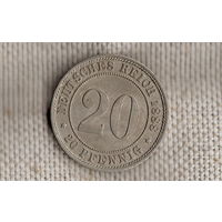 Германия 20 пфеннигов 1888 А/(NS)