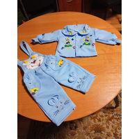 Теплый костюм для малыша 1-1.5 года
