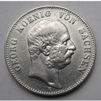 Германия, Саксония, 2 марки, 1904, серебро