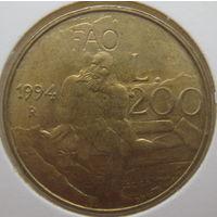 Сан-Марино 200 лир 1994 г. В холдере