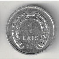 Латвия 1 лат 2010 Подкова вниз