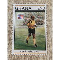 Гана 1994. Чемпионат мира по футболу США 94. Марка из серии