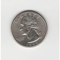25 центов (квотер) США 1998 Р Лот 6676