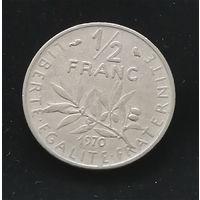 1/2 франка 1970 Франция #02