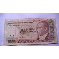 ТУРЦИЯ 5000 лир 1970 года. 1 распродажа