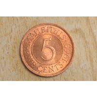 Маврикий 5 центов 1969