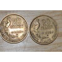 Франция 20 франков 1952В