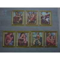 Марки - Гвинея-Биссау 1983 -  искусство живопись религия - Рафаэль - 7 марок