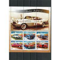 Куба. Старые автомобили, малый лист
