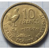 Франция 10 франков, 1957     ( 6-4-3 )