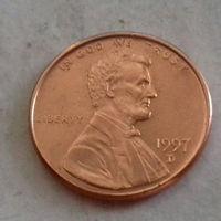 1 цент США 1997 D, AU