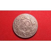 20 грош 1923. Никель. Польша.