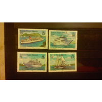 Корабли, парусники, яхты, пейзажи, флот, транспорт, марки, Британские Виргинские острова 1985