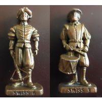 Солдатик киндер сюрприз швейцарец гвардеец Die Schweizer Garde - 40 mm Bronze (Швейцарская гвардия) swiss (обмен)