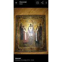 Редкая икона 19 век Архангел Михаил и Святые