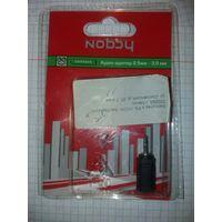 OTG Аудио адаптер (переходник) Nobby, для разъемов наушников 2,5 - 3,5 мм