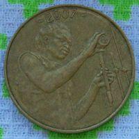 Западная Африка 25 франков 2007 года. Бенин, Буркина-Фасо, Гвинея-Бисау, Кот-д'Ивуар, Мали, Нигер, Сенегал, Того. Инвестируй в коллекционирование!