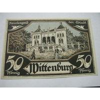 Виттенбург 50 пфеннигов 1922 дворец драконы (2-152)