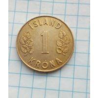 Исландия 1 крона 1975г.