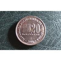 20 боливаров 2001. Венесуэла.