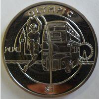 Сьерра-Леоне 1 доллар 2012 года. Прыжки в высоту. Шайба. Состояние UNC!