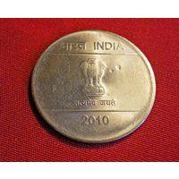 1 Рупия /Индия/ монетный двор Мумбаи/2010 г.