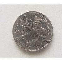 """США 25 центов 1976 года """"200 лет Независимости США"""", Барабанщик"""