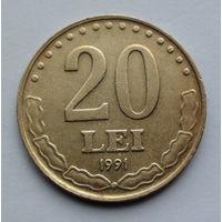 Румыния 20 леев. 1991