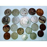 21 монета СССР и России с рубля.