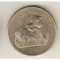 Танзания 200 шиллинг 1998