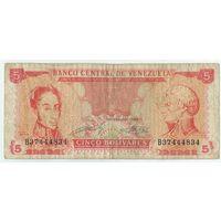 Венесуэла 5 боливаров 1989 год.