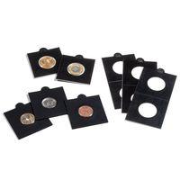 Холдеры (самоклейка) для монет всех размеров (17.5, 20, 22.5, 25, 27.5, 30, 32.5 , 35, 37.5, 39.5 мм Leuchtturm Matrix (производство Германия)