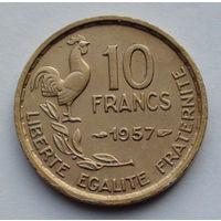Франция 10 франков. 1957