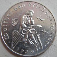 17. Австрия 2 шиллинга 1930 год, серебро 700 лет смерти Вальтера