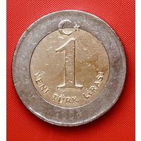 20-07 Турция, 1 лира 2005 г.