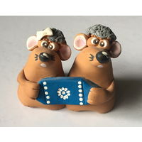 """Глиняные фигурки """"Мышки"""", H 7 см."""