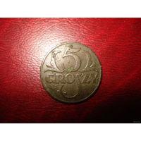 5 грошей 1931 года Польша (РЕДКИЙ ГОД RR тираж 1 500 000 шт!!!)