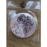 Руанда, 5000 франков, 2019, серебро