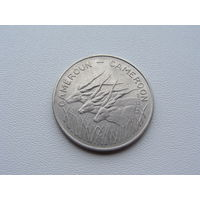 """Камерун. 100 франков 1984 год  KM#17  """"Африканская антилопа"""""""